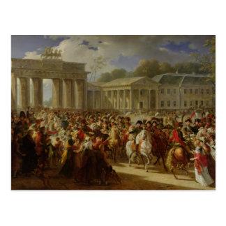 Entry of Napoleon I  into Berlin Postcard