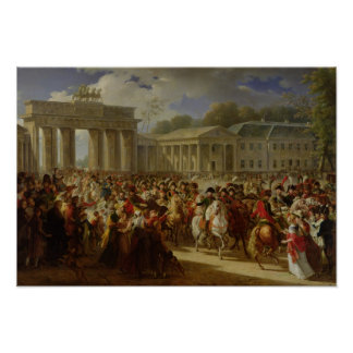 Entry of Napoleon I  into Berlin Poster
