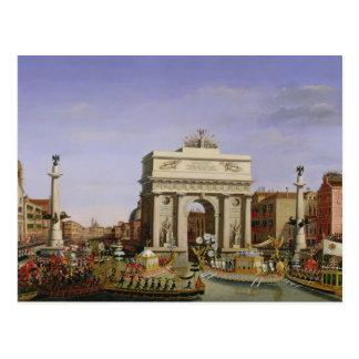 Entry of Napoleon I  into Venice, 1807 Postcard
