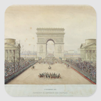 Entry of Napoleon III into Paris Square Sticker