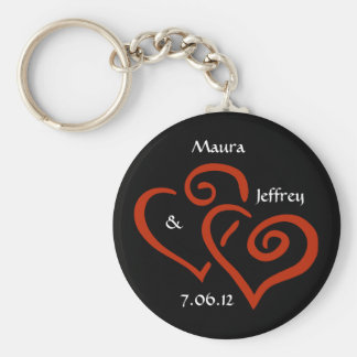 Entwined Hearts Keychain with Customizable Text