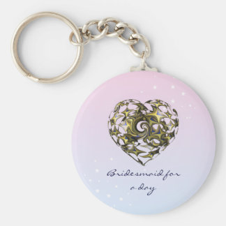 Entwined Love Heart Wedding Keychain