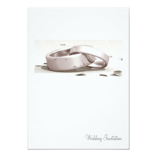Entwined Rings Blank - Wedding Invite
