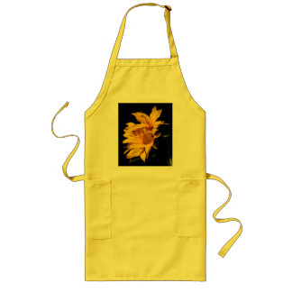 Entwined sunflowers long apron