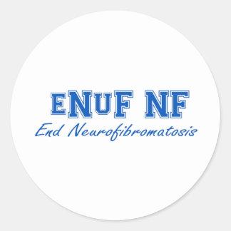 eNuF NF Classic Round Sticker