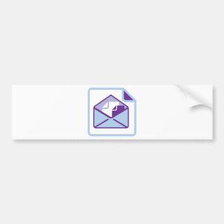 Envelope Icon vector Bumper Sticker