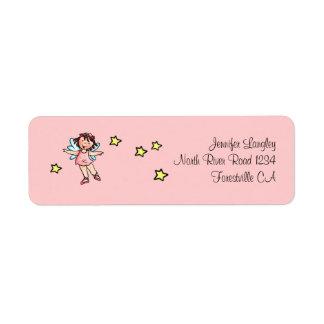 Envelope Mailing Adress Sticker Ballet Girl