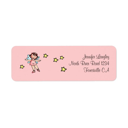Envelope Mailing Adress Sticker Ballet Girl