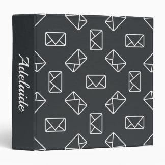 Envelope pattern 3 ring binder