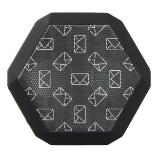 Envelope pattern black bluetooth speaker
