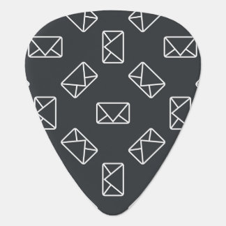 Envelope pattern guitar pick