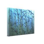 Enveloppe bleue de toile de contre-jour d'arbre d' impressions sur toile