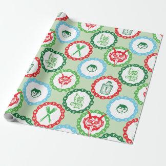 Enveloppe de cadeau de Krampus Papier Cadeau