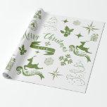 Enveloppe vintage personnalisée de Noël vert et Papiers Cadeaux