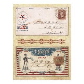 Enveloppes timbrées de guerre civile avec l'union carte postale