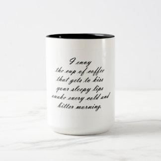 Envie de café mug bicolore