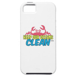 Environment Keep Our Oceans Clean Slogan iPhone 5 Covers