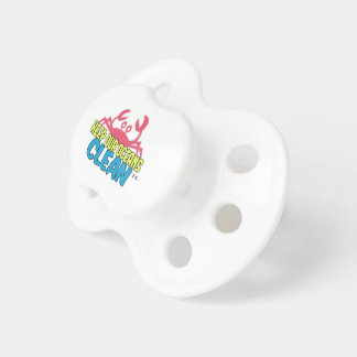 Environment Keep Our Oceans Clean Slogan Pacifier