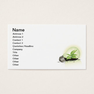 Environment Lightbulb greens plants soil causes en Business Card