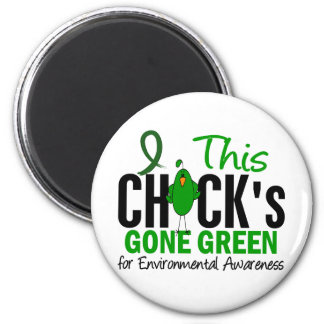 ENVIRONMENTAL Chick Gone Green Magnet