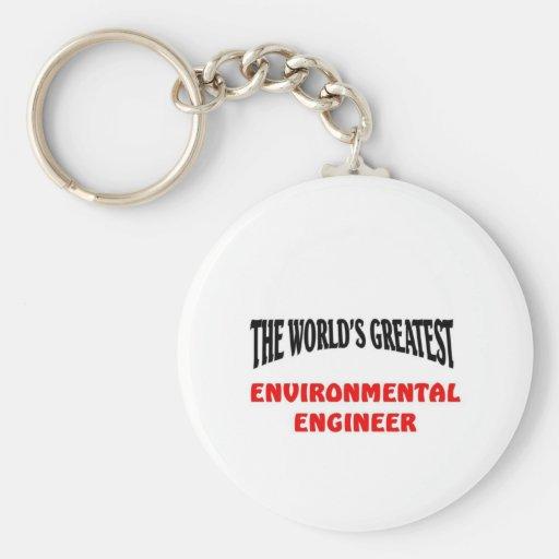 Environmental Engineer Keychains