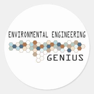 Environmental Engineering Genius Round Sticker
