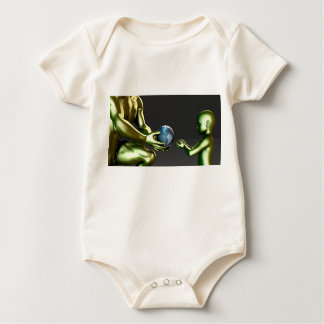 Environmental Friendly Awareness for Children Baby Bodysuit