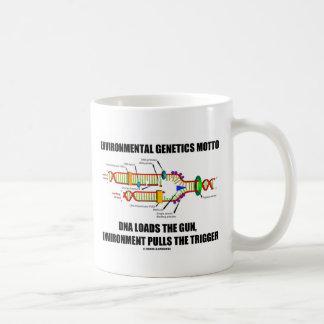 Environmental Genetics Motto DNA Loads Environment Coffee Mug