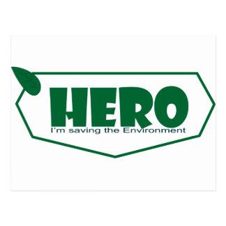 Environmental hero postcard