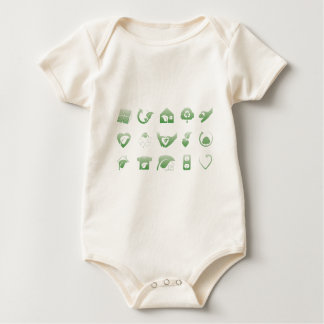 environmental icons 1 baby bodysuit
