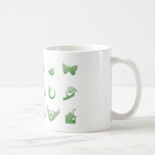 environmental icons 3 coffee mug