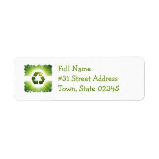 Environmental Issues Return Address Label