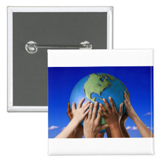 Environmental Issues Save The World 2 Inch Square Button
