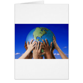 Environmental Issues Save The World Greeting Card