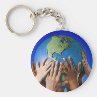 Environmental Issues Save The World Keychain