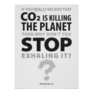 Environmentalism - Stop Exhaling: Protest Poster
