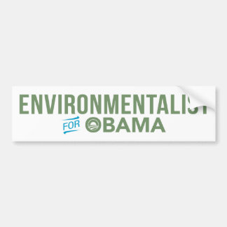 Environmentalist For Barack Obama Bumper Sticker