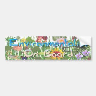 Environmentalist On Board Bumper Sticker
