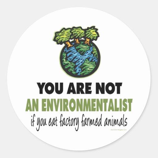 Environmentalist = Vegan, Vegetarian Sticker