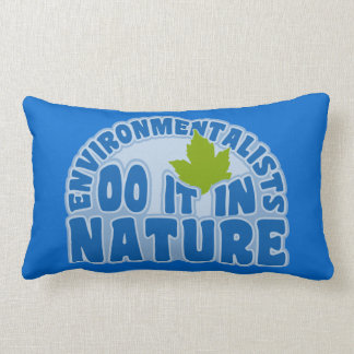 Environmentalists custom throw pillow