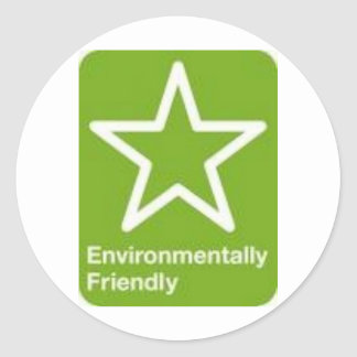 Environmentally Friendly Classic Round Sticker