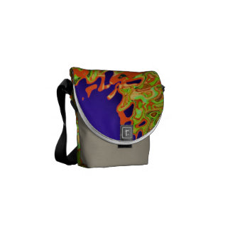 Envision - Orange Purple Blue Green Messenger Bag