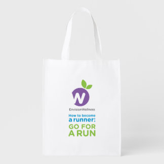 Envision Wellness: Go For a Run Reusable Grocery Bag