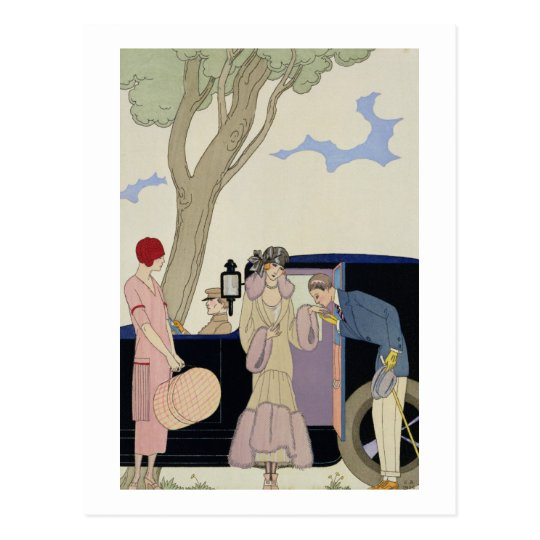 Envy, 1914 (pochoir print) postcard
