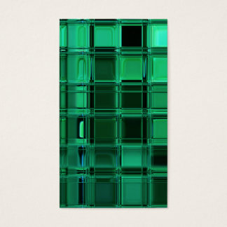 Envy Green Pattern Mosaic Tile Art Business Card