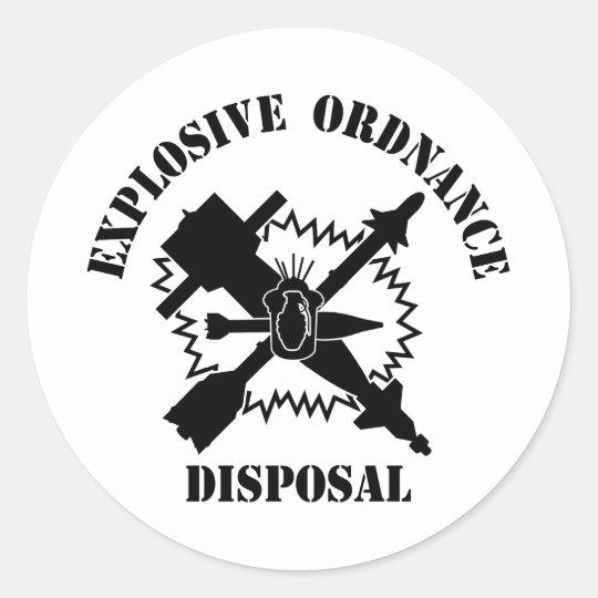 EOD logo Classic Round Sticker