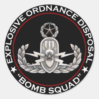 "EOD Master ""Bomb Squad"" Round Sticker"