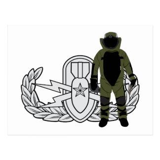 EOD Senior Bomb Suit Postcard