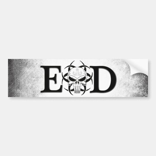 EOD skull with crab grunge Bumper Sticker