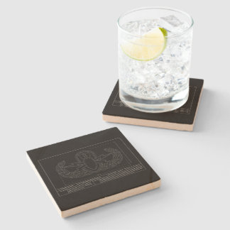 EOD Technical Drawing Stone Coaster